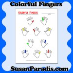 This colorful worksheet helps students label the correct fingers for playing the piano.