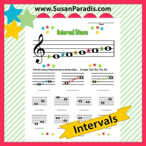 This is a worksheet for beginning intervals.
