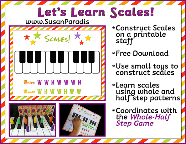 image about Scales Printable called Allows Study Scales - Susan Paradis Piano Training Materials