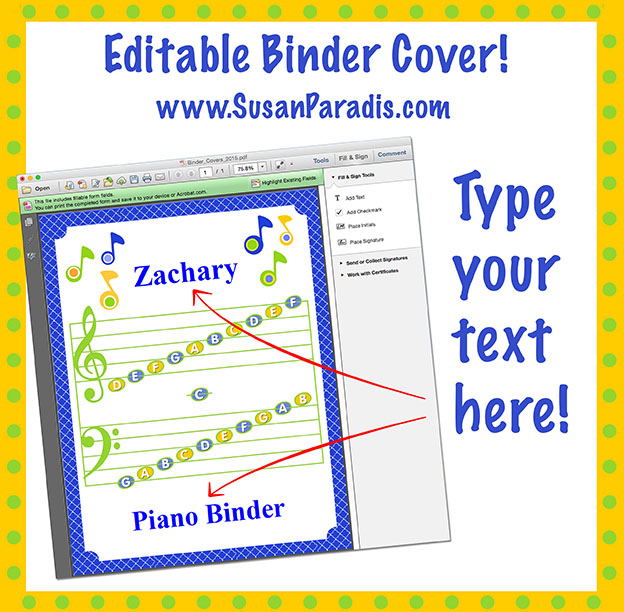 personalize your binder covers  an editable pdf