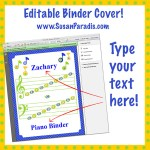 Personalize your Binder Covers