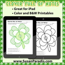 Clover Full of Notes - Rhythm Worksheet