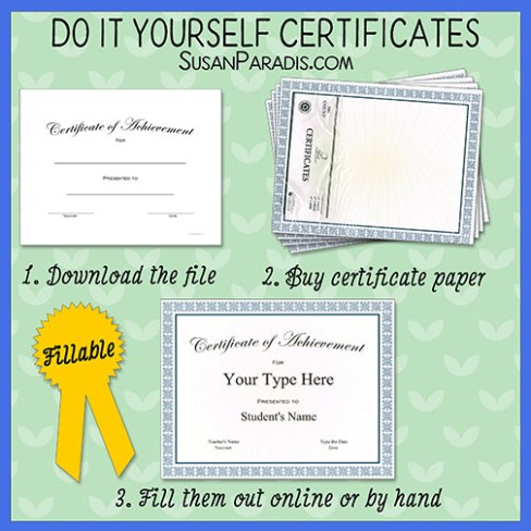 Traditional Certificates