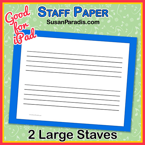 large staff paper