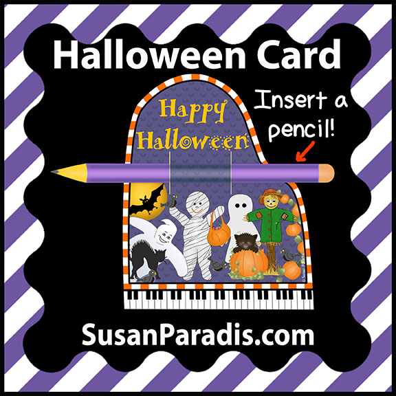 Halloween Card with Pencil