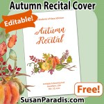 Editable cover for Autumn piano recitals
