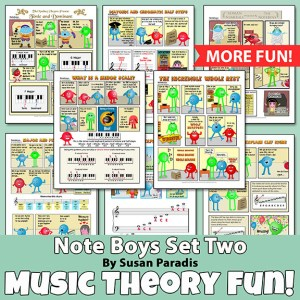 The NoteBoys comics teach music theory the fun way.