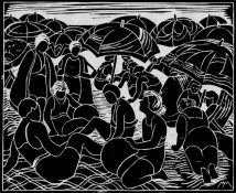 Mullineux | A Crowded Beach (white-lined)