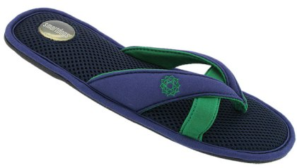 Smartdogs Comfort Slipper Shoes for Summer: Uplift Thong Smartdogs Slipper Shoes in preppy navy blue and green are perfect for summer!