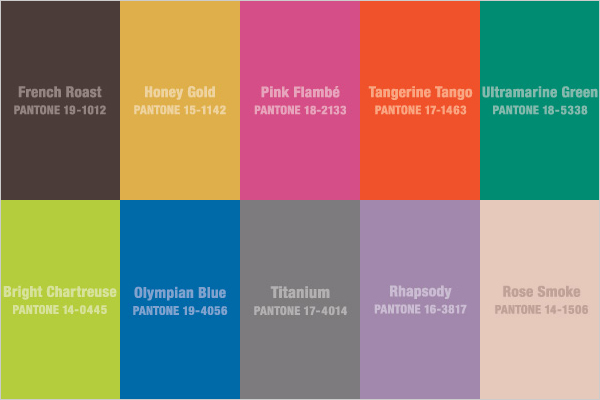 Pantone Color Trends for Fall