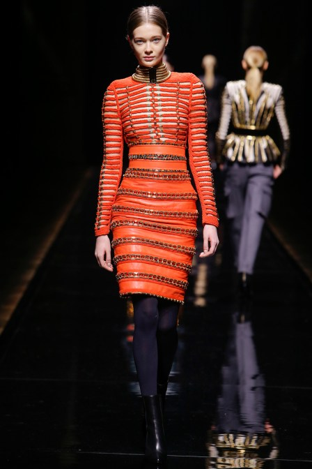 "Balmain Fall 2014 RTW. ORANGE is ""Red-Hot"" This Fall"