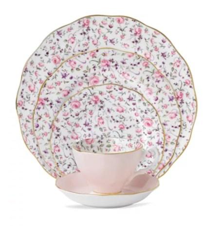 Taking Tea, Royal Albert china pattern