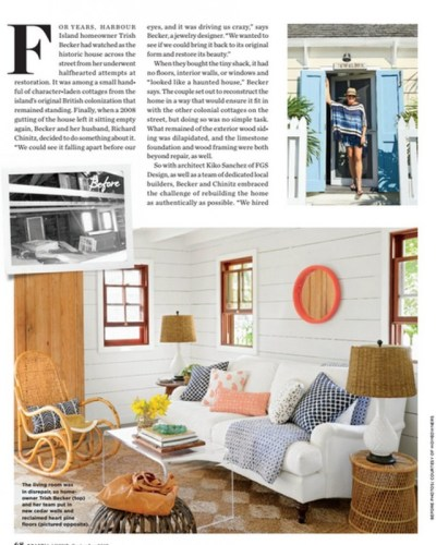 Clear acrylic furniture: Acrylic table by Acrylic Fabricators of Southeastern Florida featured in Coastal Living, September 2015