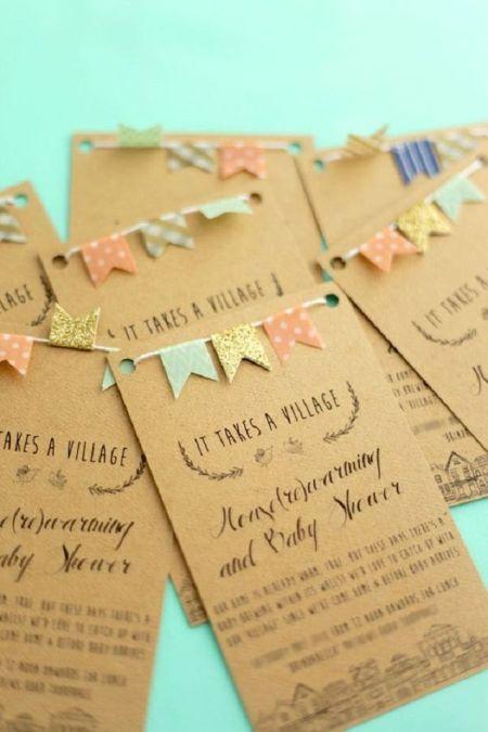 Washi tape card and invitation ideas