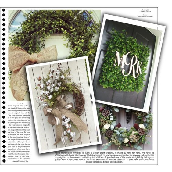 Rustic Simple Wreaths Welcome Spring