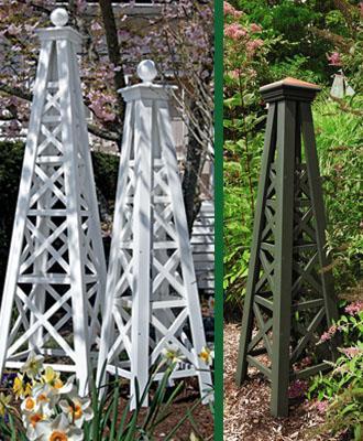 Cottage Garden Style: Add an obelisk