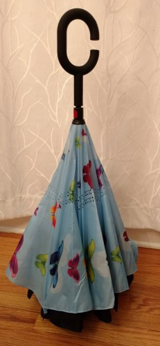 This adorable inverted umbrella will make you wish for rain