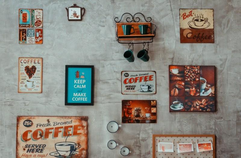 Home Coffee bar Signs