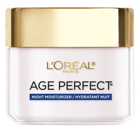 L'Oreal Age Perfect Night Moisturizer is specially formulated for mature skin with soy seed proteins, an amino acid rich ingredient which helps firm and improve skin elasticity.