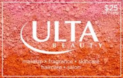 Giveaway! $25 Ulta Beauty Giftcard
