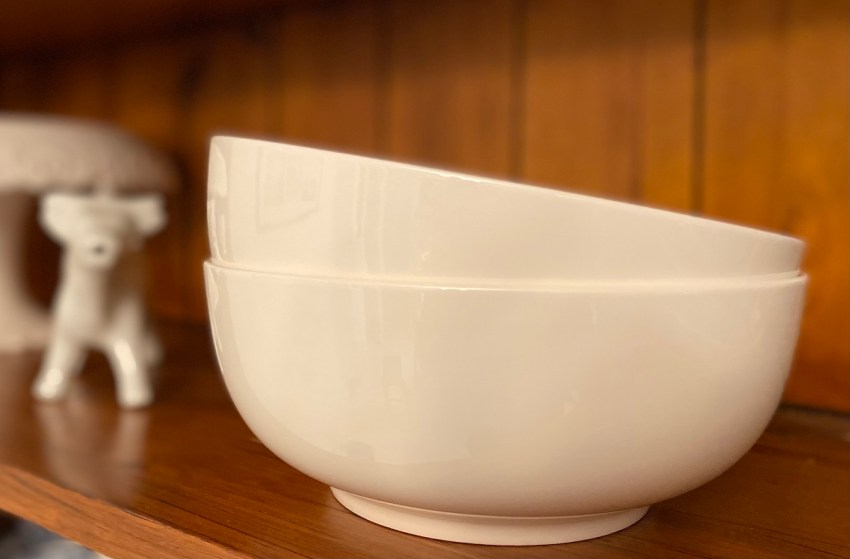 Versatile White Ceramic Bowls from Lareina Life are a Kitchen Essential