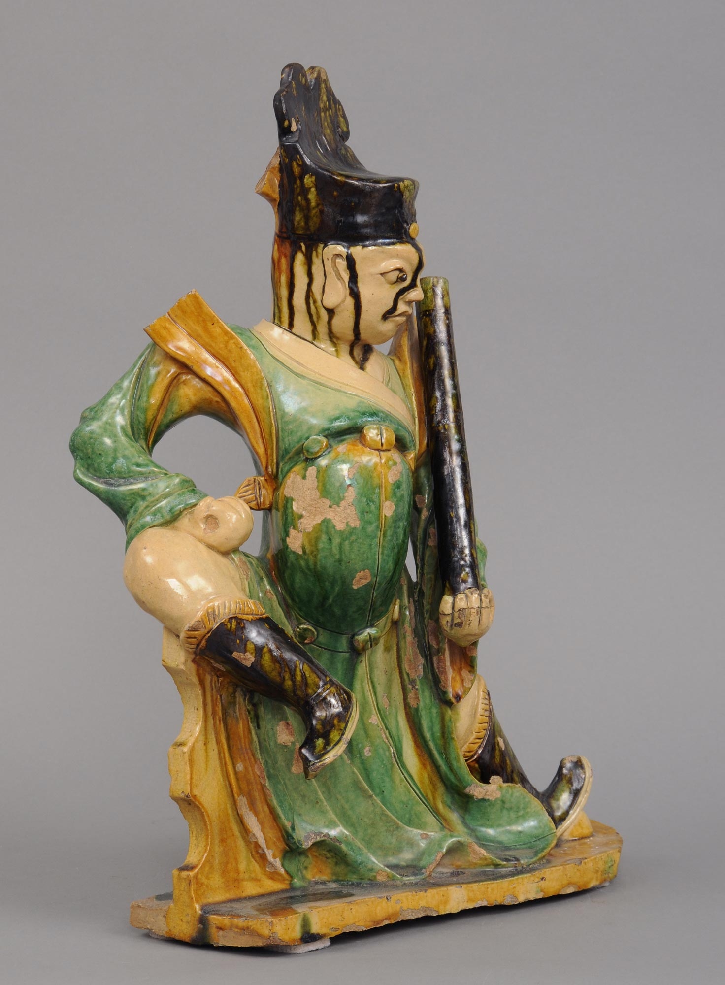 Product Chinese Sancai Three Colors Glazed Figure Of A