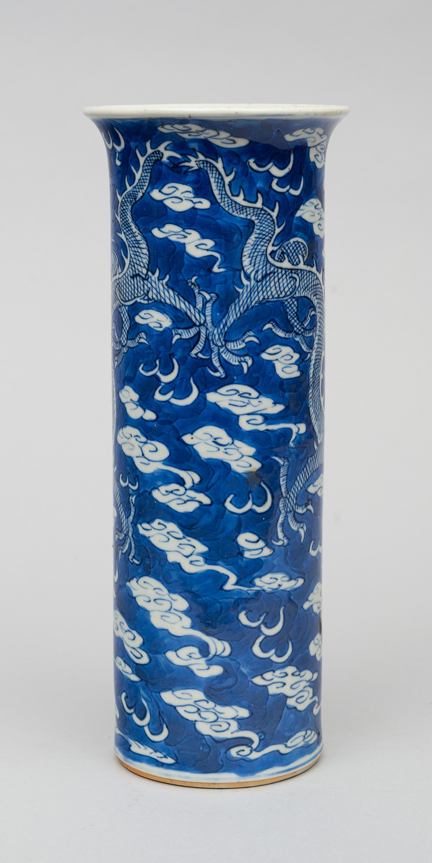 Chinese Blue And White Vase Circa 1870