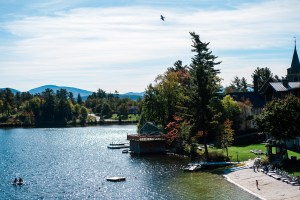 View from Lake Walk, Lake Placid