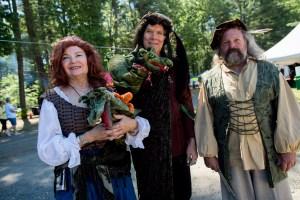 Costumed participants at a Renaissance Festival