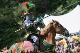 Knight preparing to joust during a Renaissance Festival.