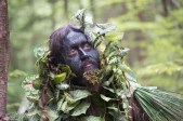 Man dressed as a tree during a Renaissance Festival