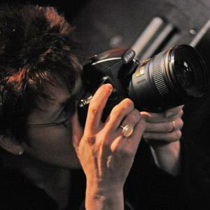 Susan photographing a concert