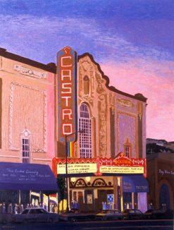 Castro Theater, print by Susan Sternau