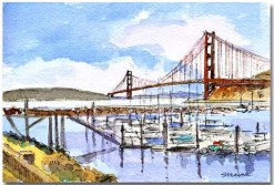 Marina and Bridge by Susan Sternau