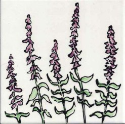 Purple Sage Tile, single product, by Susan Sternau