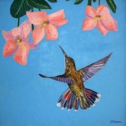 Ruby Topaz Hummingbird, giclee print by Susan Sternau