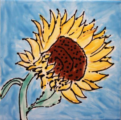 Sunflower Tile by Susan Sternau