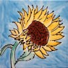 Sunflower Tile by Susan Sternau
