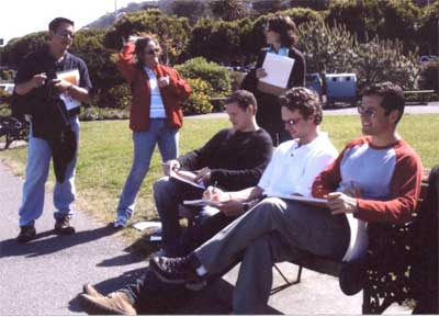 Sketching Group in Sausalito