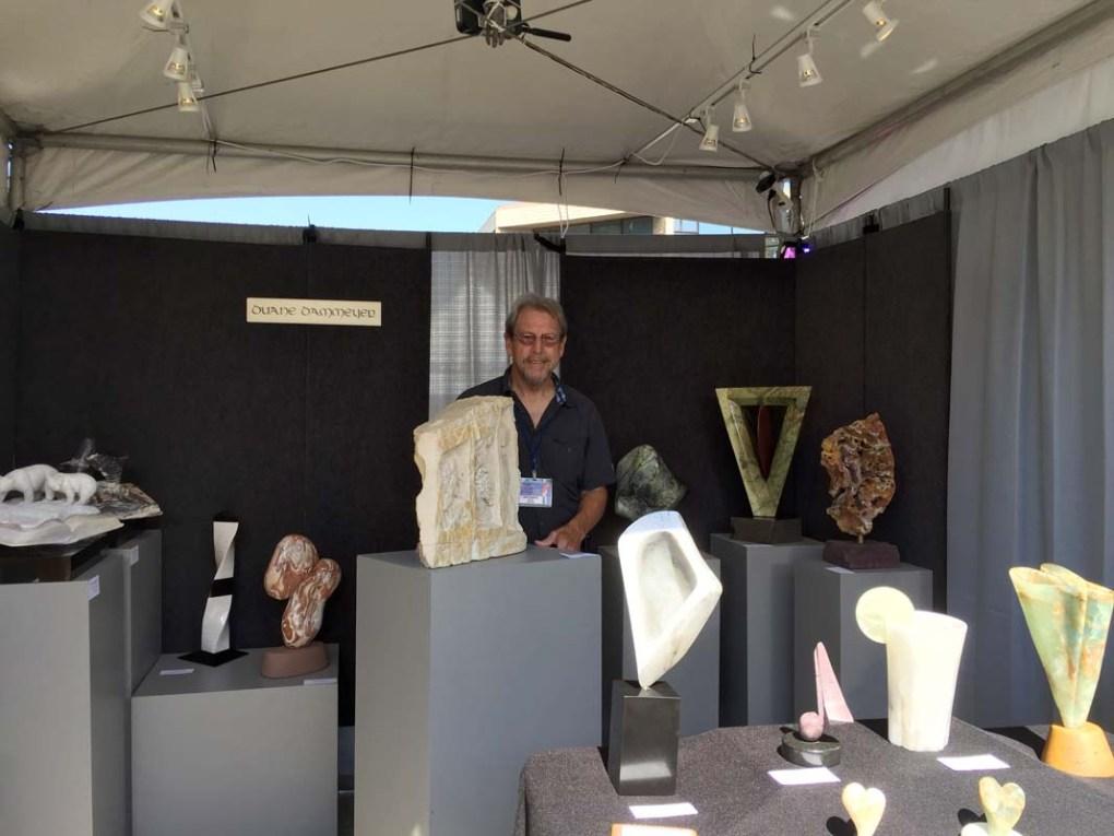 Duane Dammeyer Booth, celebrating sculpture