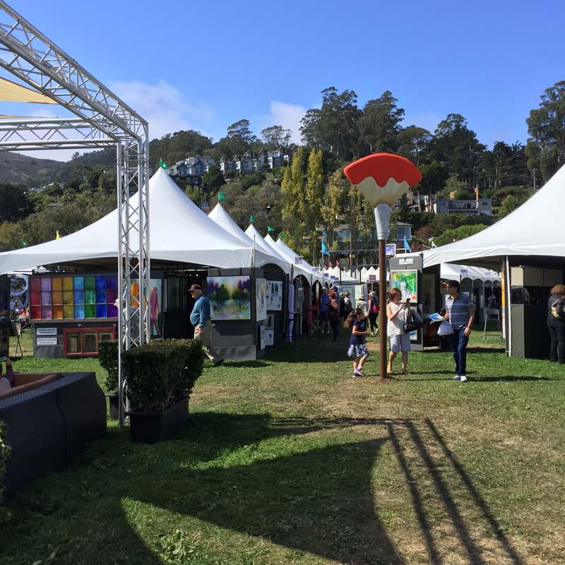 Sausalito Art Festival, 2, celebrating sculpture