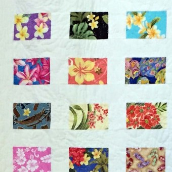 Hawaiian Postcards, Quilt, detail, by Judy Brooks