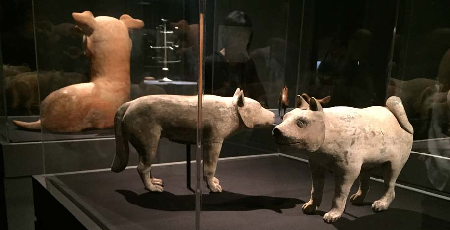 Dogs, animals of ancient chinese art
