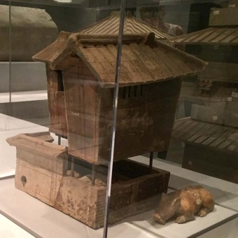 Model of a Multi-Story House with animals