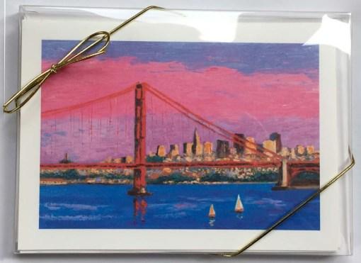 Golden Gate Bridge Card Box, front, by Susan Sternau