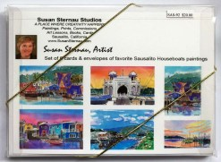 Sausalito Houseboats Card Box back by Susan Sternau