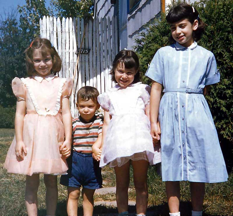 The four of us in 1958 (I'm second from the right).