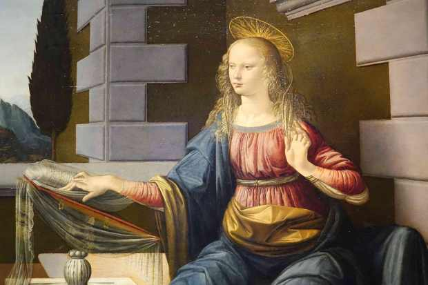 "Detail from Leonardo DaVinci's ""The Annunciation"""