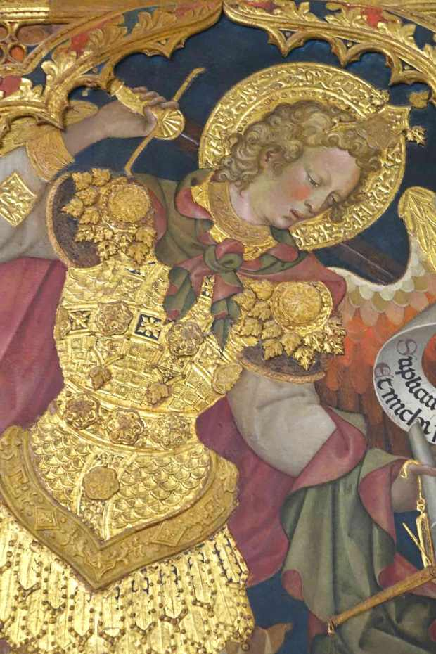 image of Gothic painting detail