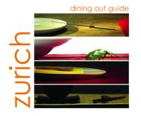 Zurich Dining Out Guide, 2nd edition